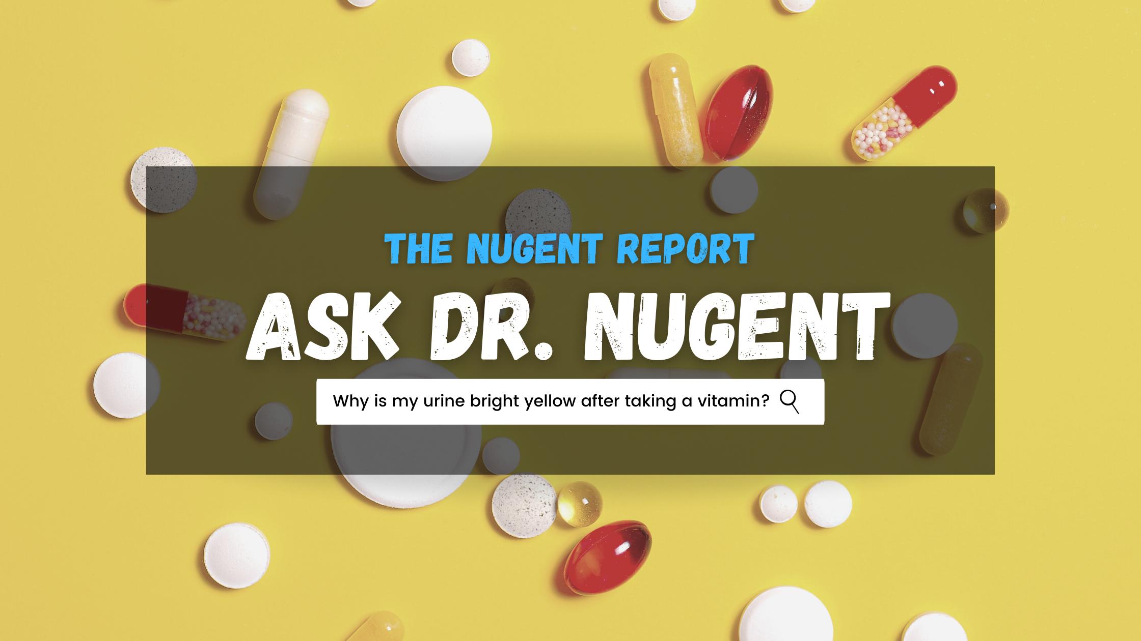 Pee vitamins neon Why do